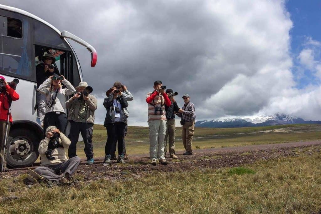 Group tourist transportation in Ecuador