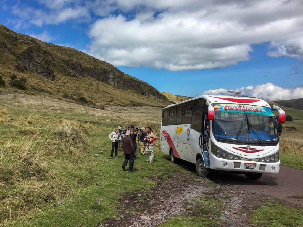 Alquiler de transporte especial en Ecuador